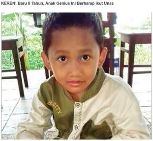 Indonesia Hebat... Anak Genius Usia 8 Tahun Siap Ikut Unas SD, Ini Profilnya
