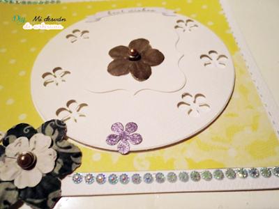Detalle 2 de las flores y cristalillos