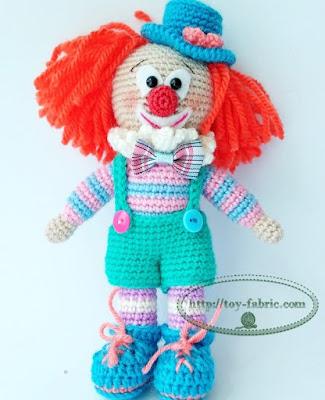 Вязаная игрушка клоун крючком