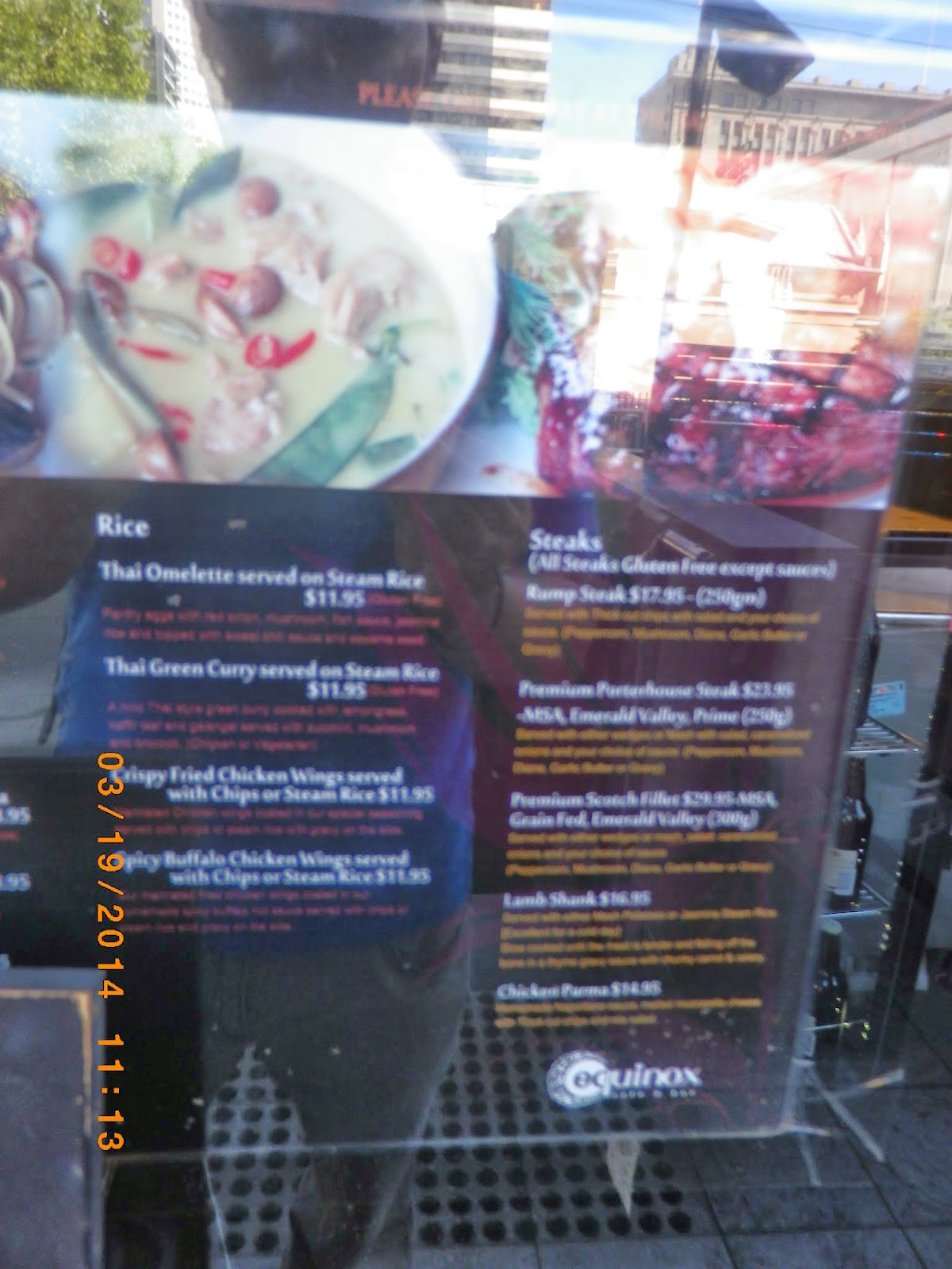 Equinox Restaurant Bar Melbourne Vic
