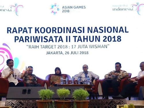 Jumlah kunjungan turis asing ke indonesia 2018