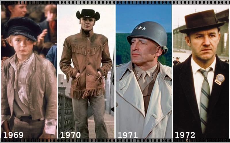 Vencedores do Oscar de Melhor Filme do Ano desde 1969 até
