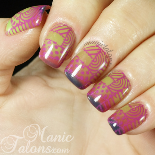 Manic Talons Nail Design The Surprise In Bundle Monster Mulberry Surprise