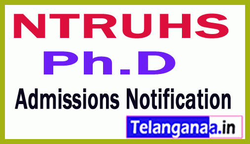NTRUHS Ph.D Admissions Notification