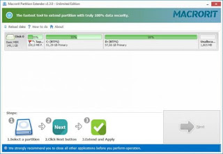 Macrorit Partition Extender 1.3.1 Unlimited Edition Full Version