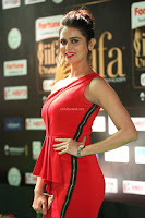 Meenakshi Dixit in Red One Shoulder Red Zipped up gown at IIFA Utsavam Awards020.JPG