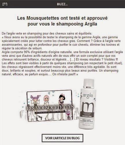 Newsletter août 2014 Mulato et notre article sur le shampoing Argila