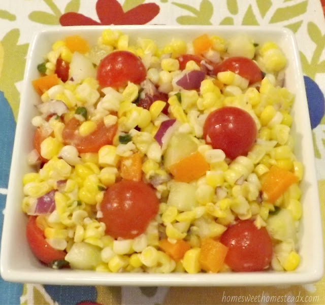 Fresh Summer Corn Salad: Home Sweet Homestead