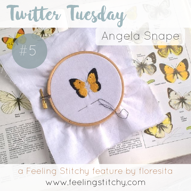 Twitter Tuesday 5 - Angela Snape, a Feeling Stitchy feature by floresita