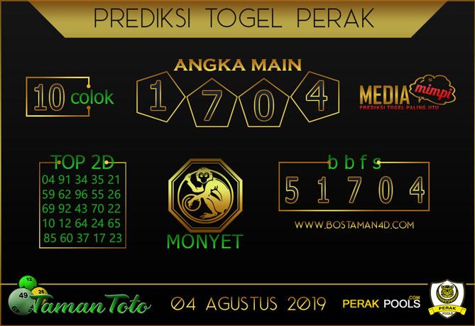 Prediksi Togel PERAK TAMAN TOTO 04 AGUSTUS 2019