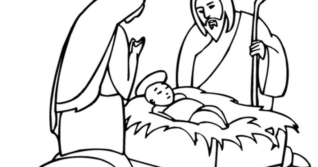Free Gambar Polos Mewarnai Gambar Kelahiran Yesus Kristus Pictures