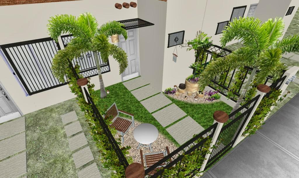Dise os 3d imagenes renders de jardines virtuales y for Jardines con gravilla de colores