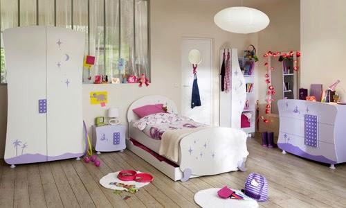 cuarto para niña lila
