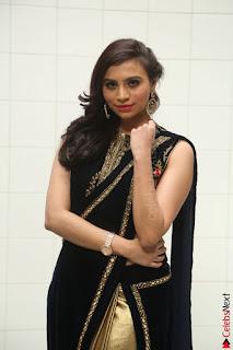 Priyanka Ramana in Beautiful Designer Black Saree At We Craft Elegance Expo Launch 039.JPG