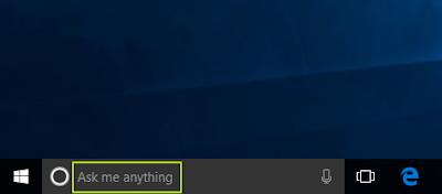 tampilan Ask me anything pada Start Windows 10