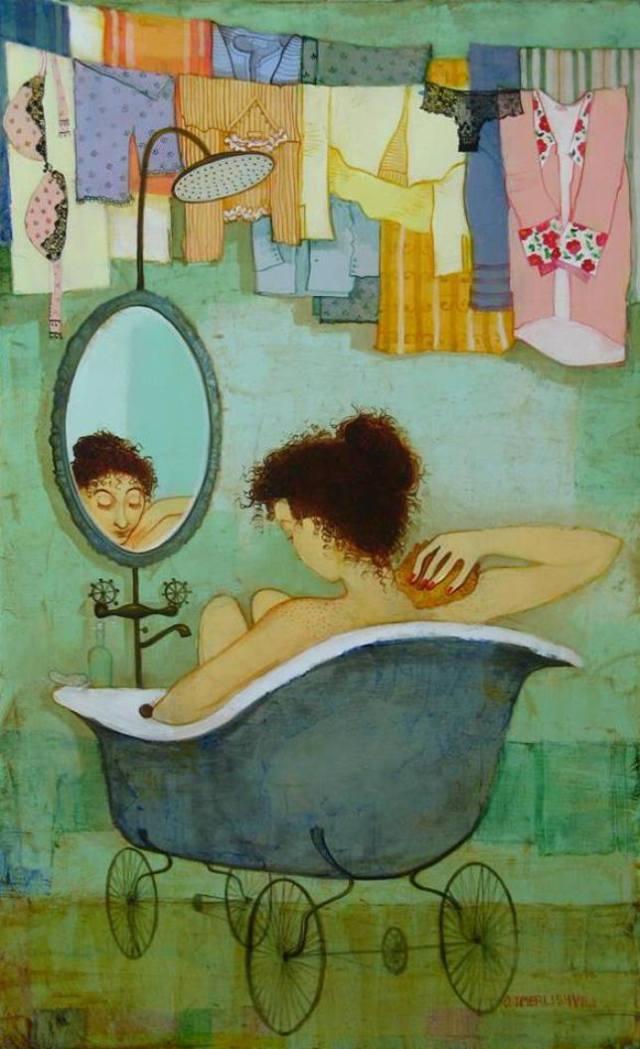Otar Imerlishvili, Einsamkeit, Vergangenheit, Erinnerung, Liebe, Trennung, Enttäuschung, verlassen, schluss machen, tränen, gebrochenes herz, leid, traurigkeit, kummer, painting, bild, poetische Art