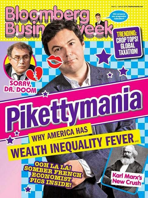 Pikettymania på omslaget till Bloomberg Business Week.