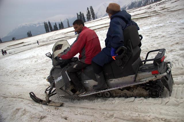 snowmobile gulmarg snow kashmir india