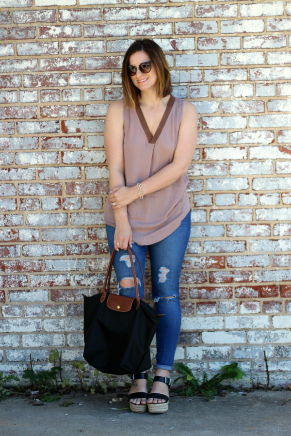 bohoblu, how to wear brown and black together, spring style, style on a budget, mom style