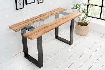 moderný nábytok Reaction, nábytok z dreva a kovu, stolový nábytok