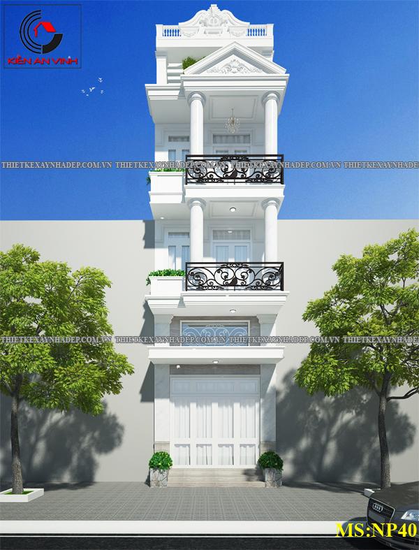 Mẫu thiết kế nhà ống nhà phố 2 tầng đẹp hiện đại 2016 Thiet-ke-nha-2-tang-1-tum-a
