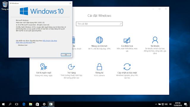 Hướng dẫn cài đặt tiếng Việt đầy đủ trên Windows 10 Anniversary Update