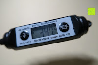 Messung: GHB fleischthermometer bbq thermometer Digitales Universales Haushaltsthermometer für BBQ Fleisch Steak Braten Jam Wein Steak Schwarz ca. 11.5 cm