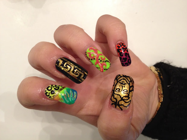 diy nails versace style