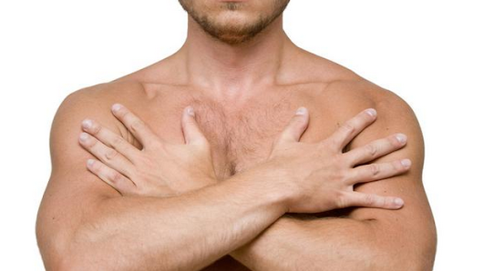 Detection of symptoms of breast cancer in men - CORNERS