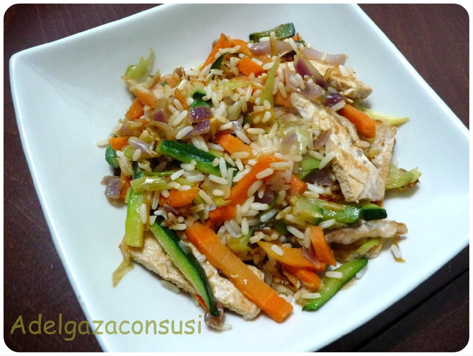 Recetas light adelgazaconsusi cerdo salteado con - Salteado de arroz ...