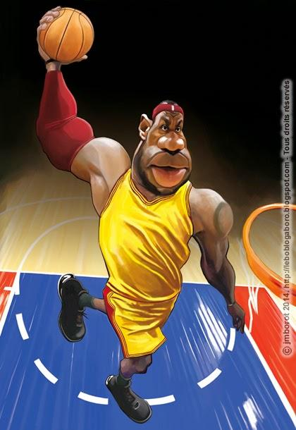LeBron James por Jean-Marc Borot