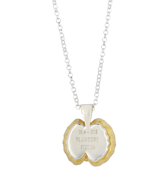 Flanders Fields Poppy Necklace By The Royal British Legion - The