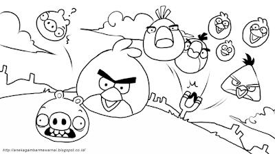 Gambar Mewarnai Angry Birds (1)