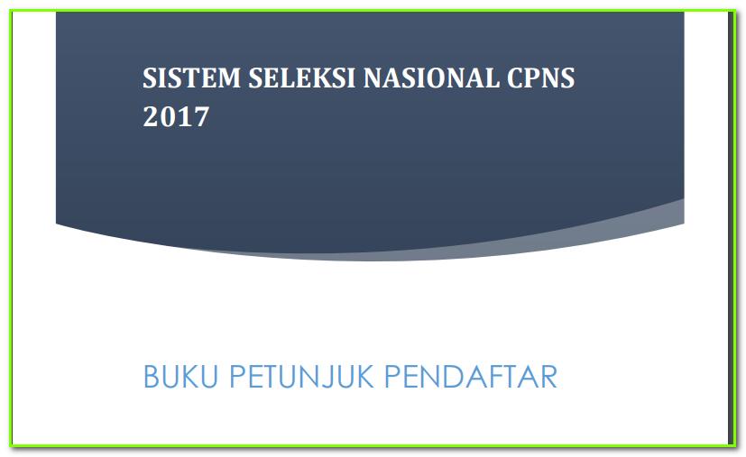 Freedownload Buku Petunjuk Pendaftar Sistem Seleksi Cpns Nasional 2017 Kumpulan Materi Bahasa