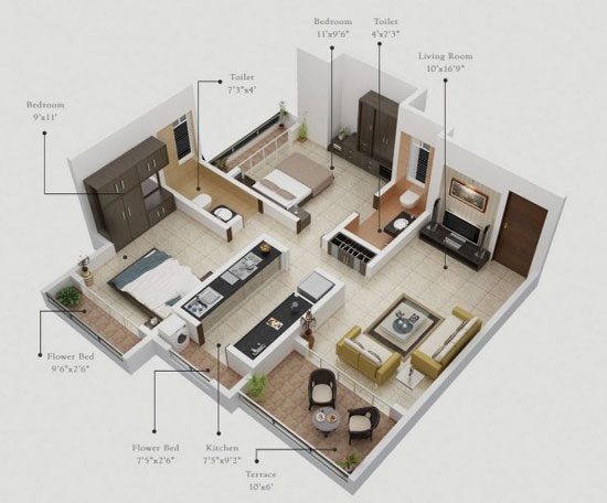 thiết kế chung cư hợp phong thủy