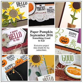 "September 2016 Paper Pumpkin Bonus Ideas for ""Something Good to Eat' by Julie Davison www.juliedavison.com"
