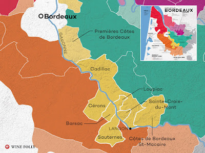 map of sweet bordeaux sauternes loupiac cadillac