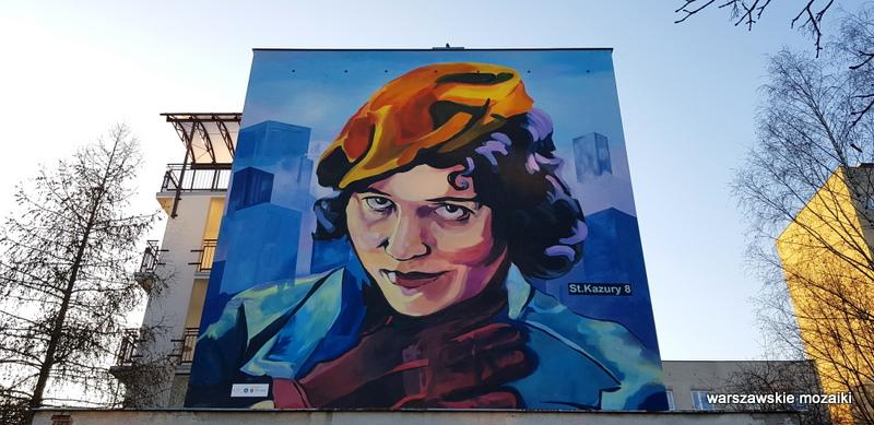 Warszawa Warsaw budżet partycypacyjny murale ursynowskie Kazury streetart muralart  warszawskie murale graffiti Zofia Stryjeńska