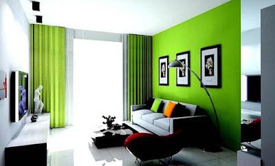 Kombinasi 2 Warna Cat Ruang Tamu Minimalis Dengan Tampilan Alami 5