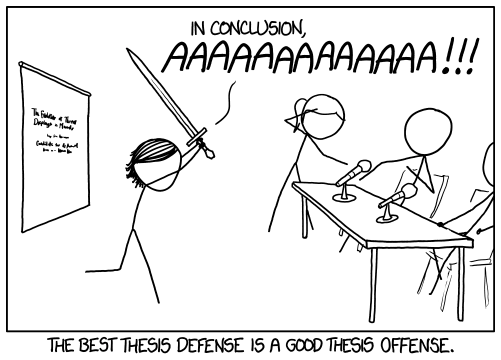 what is defending your thesis