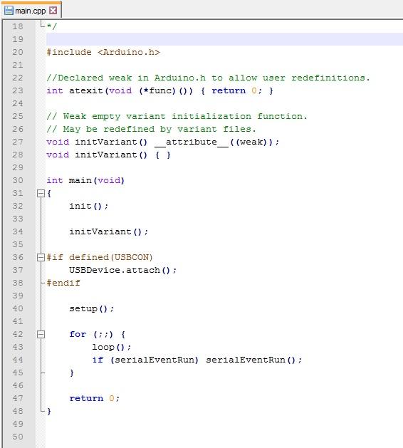 Файл main.cpp в Arduino IDE