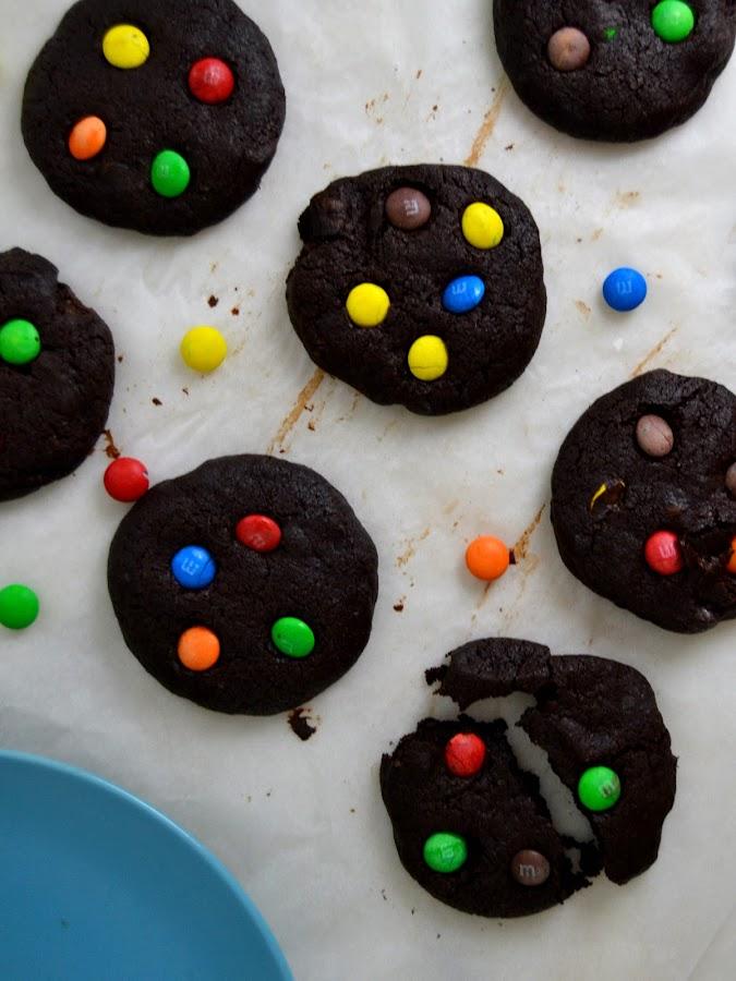 Cookies de chocolate con MM`s