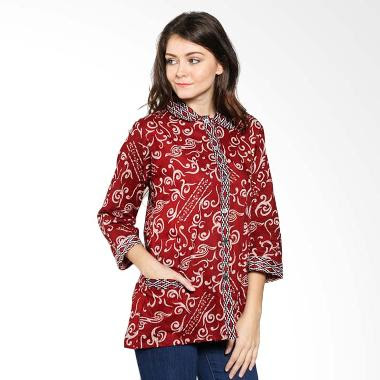 Contoh Model Pakaian Batik Kerja Wanita Modis Terbaru