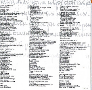 EL BLOG DE J.MIGUE BA: Letras y álbumes Cristianos/ Lyrics