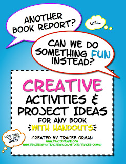 Creative Activities for ANY Novel or Story http://www.teacherspayteachers.com/Product/Creative-Activities-for-ANY-Novel-or-Short-Story-with-Handouts