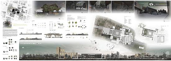 cara mendesain panel presentasi desain arsitektur