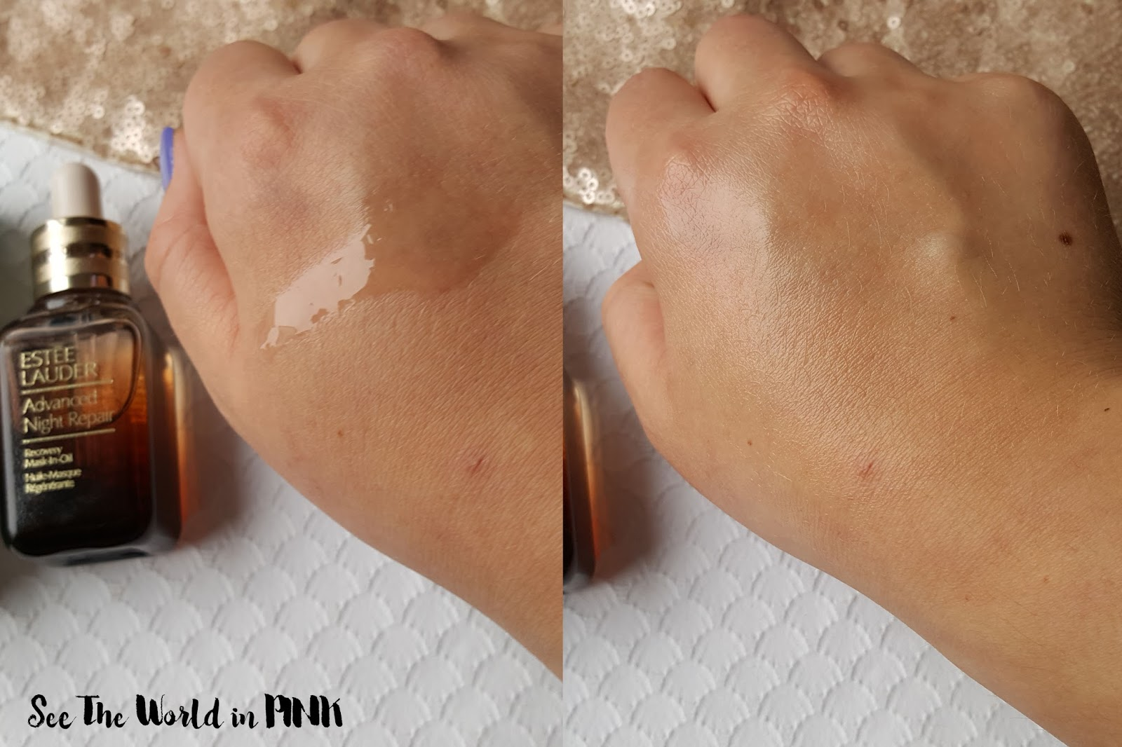 Skincare Sunday - Estee Lauder Advanced Night Repair Recovery Mask-In-Oil Review!