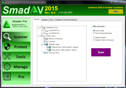 Smadav Pro 10.2 Full Serial Number Key Terbaru 2015