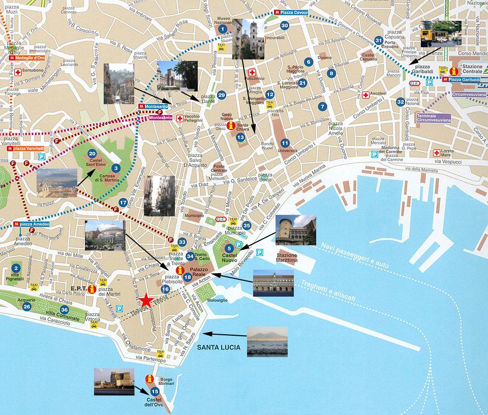 napoles mapa Visita a Nápoles   Viaje Fin de Carrera Fisioterapia 2013 napoles mapa