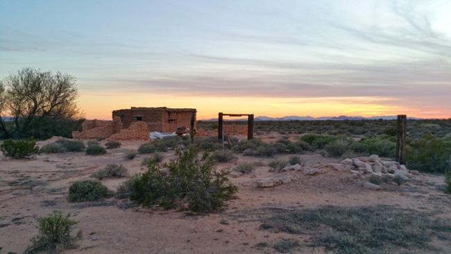 Rural Exploration of Abandoned Adobe House Ruins in Dateland, Arizona